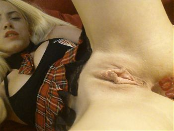 Hot Romanian blonde has good tasting lollypop fun